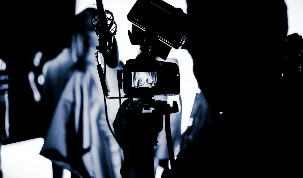 camera filming in the night